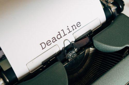 Article : Deadlines, pas deadlines?